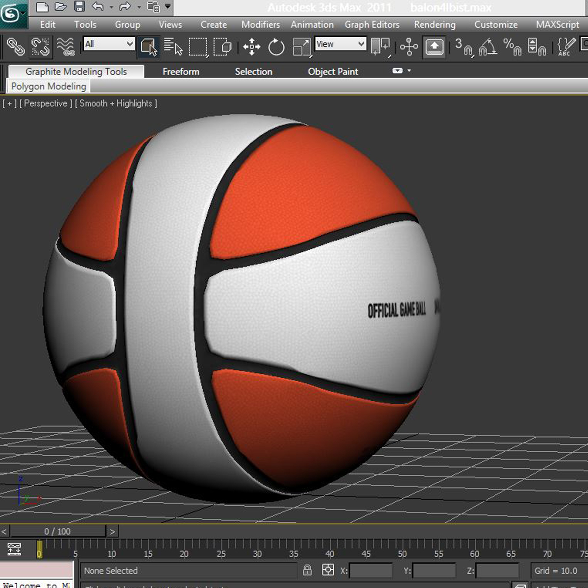 basketball ball 4l bicolor 3d model 3ds max fbx c4d ma mb obj 165652