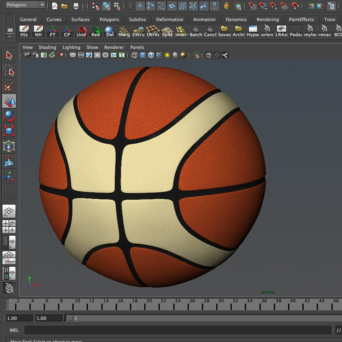 basketball ball eba 3d model 3ds max fbx c4d ma mb obj 165286