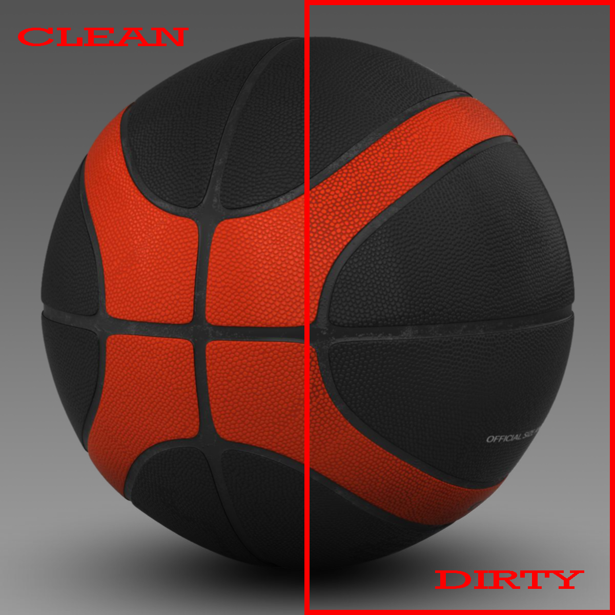 basketball ball eba black 3d model 3ds max fbx c4d mb mbar 165301