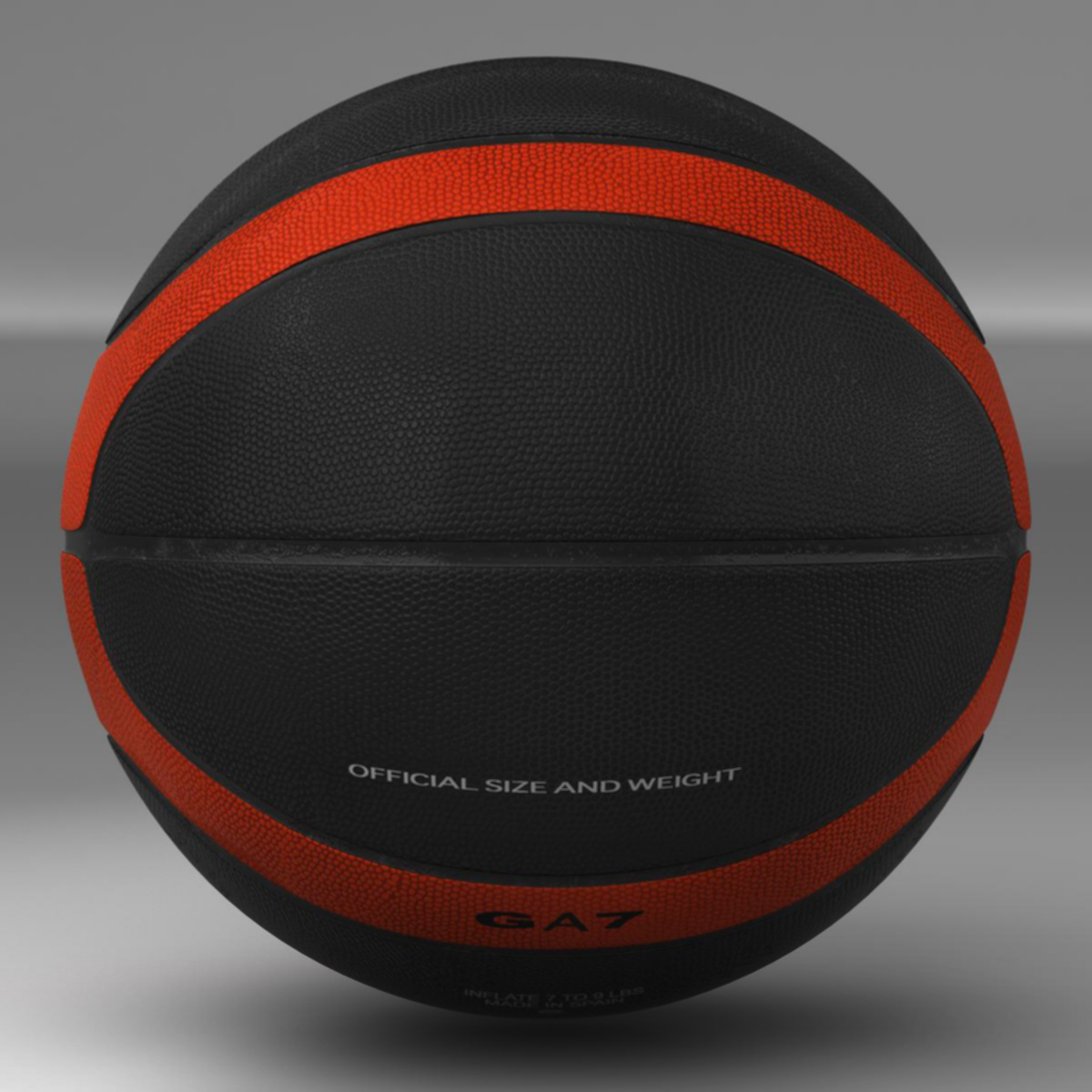 basketball ball eba black 3d model 3ds max fbx c4d ma mb obj 165302