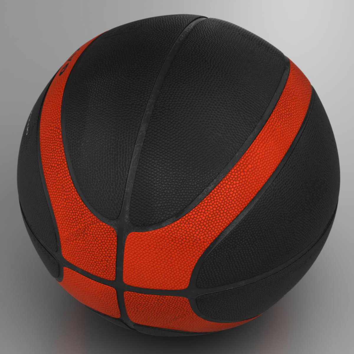 basketball ball eba black 3d model 3ds max fbx c4d ma mb obj 165303