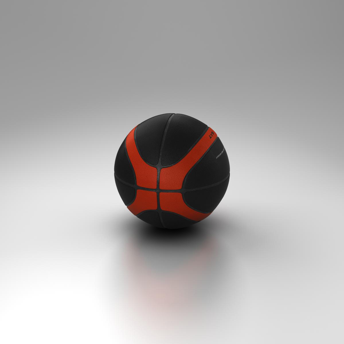 basketball ball eba black 3d model 3ds max fbx c4d ma mb obj 165308