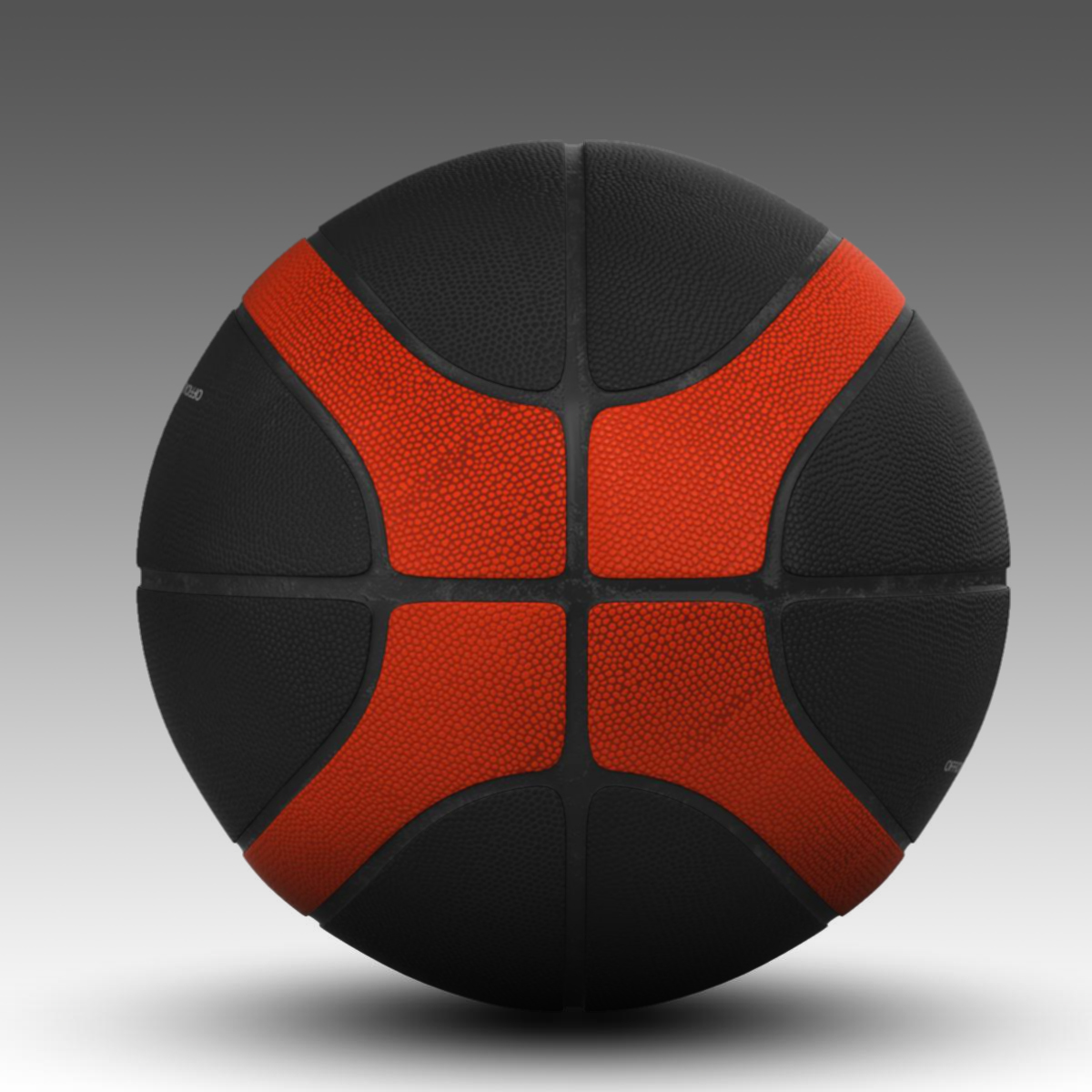 basketball ball eba black 3d model 3ds max fbx c4d ma mb obj 165309
