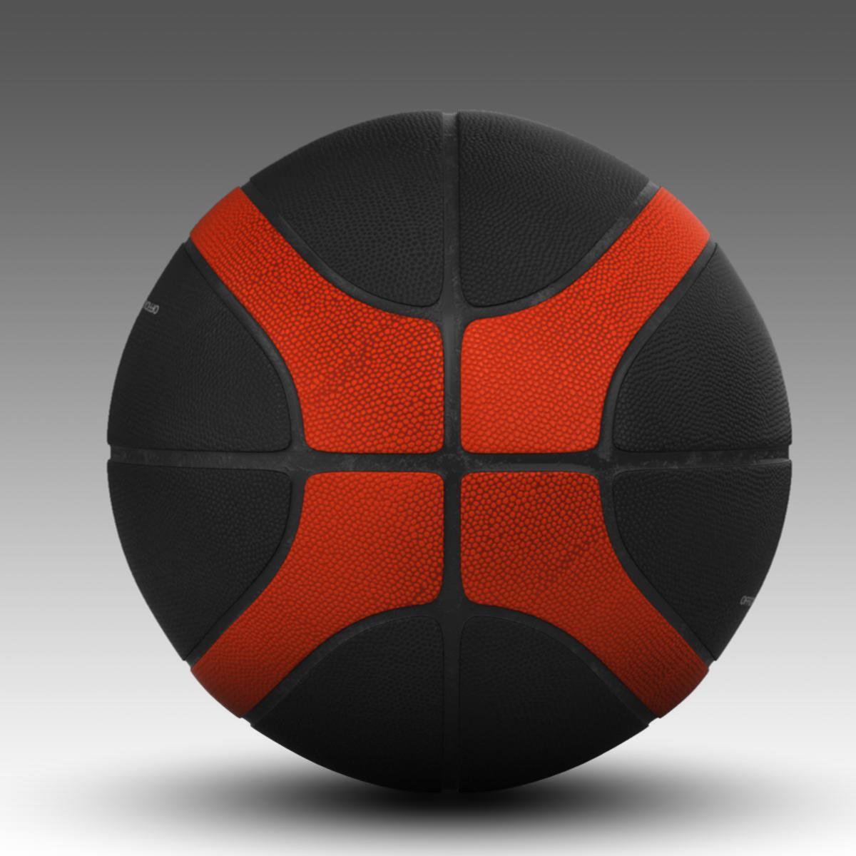 korvpalli pall eba must 3d mudel 3ds max fbx c4d ma mb obj 165309