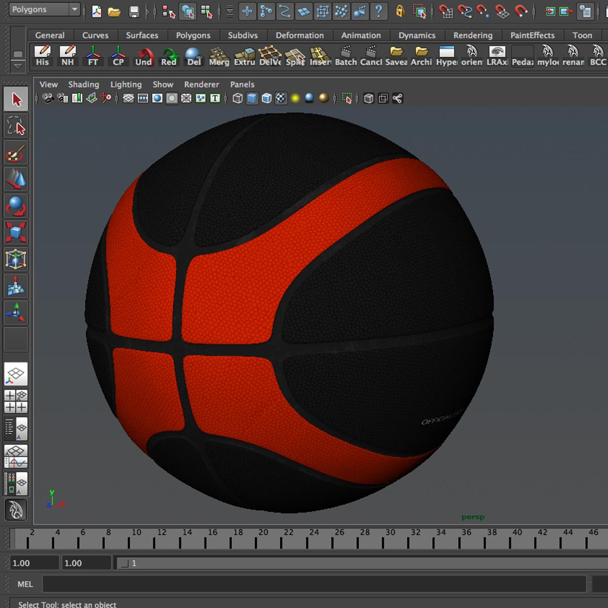 basketbola bumba eba melna 3d modelis 3ds max fbx c4d ma mb obj 165310