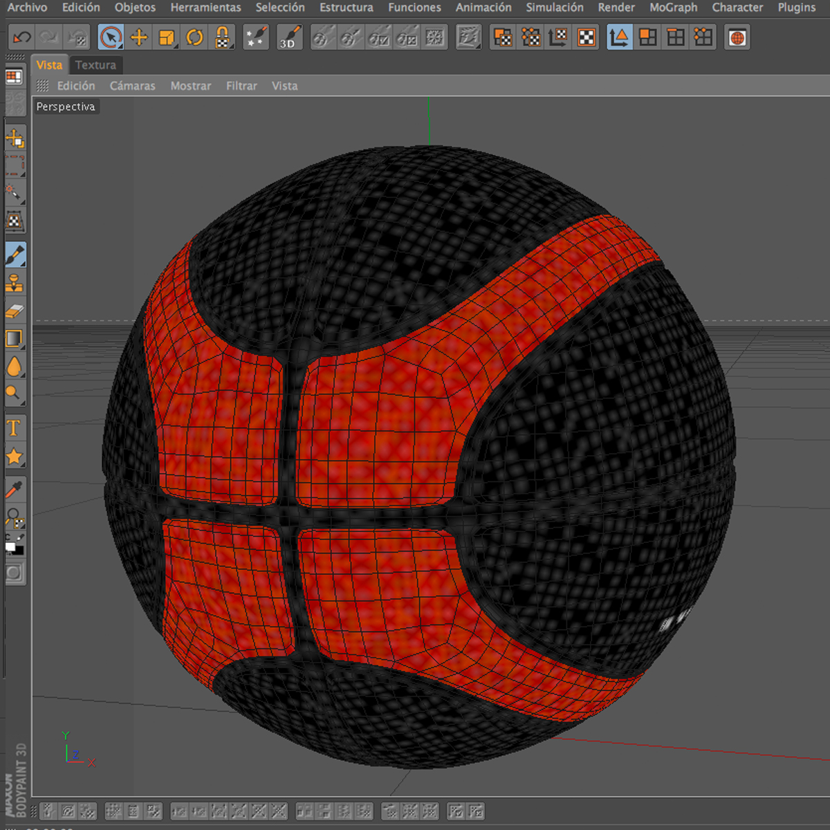 basketball ball eba black 3d model 3ds max fbx c4d ma mb obj 165311