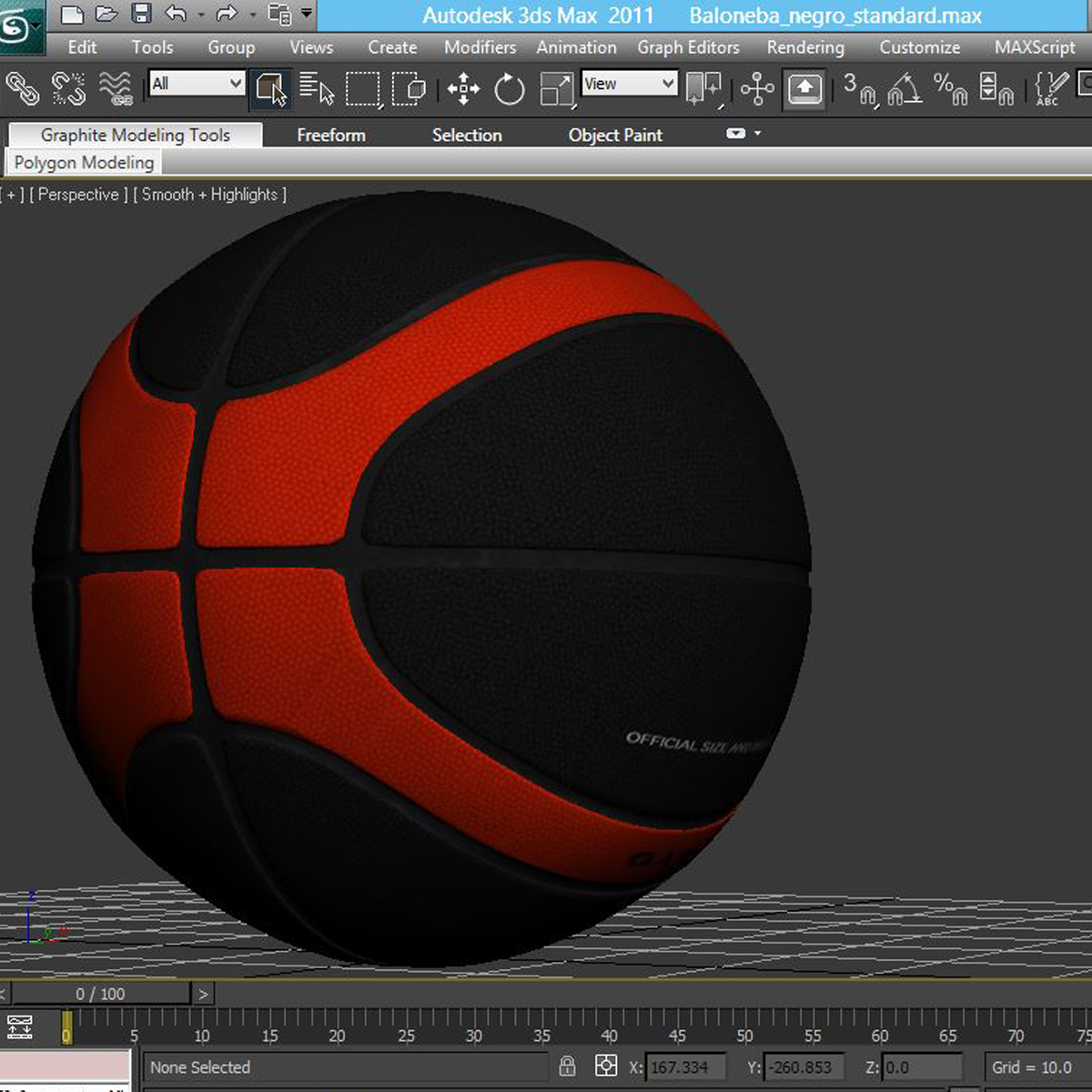 basketball ball eba black 3d model 3ds max fbx c4d ma mb obj 165312