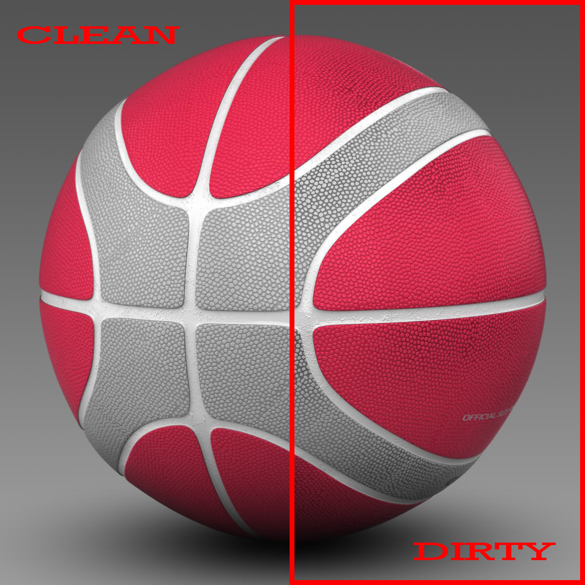 basketball ball eba red 3d model 3ds max fbx c4d ma mb obj 165289