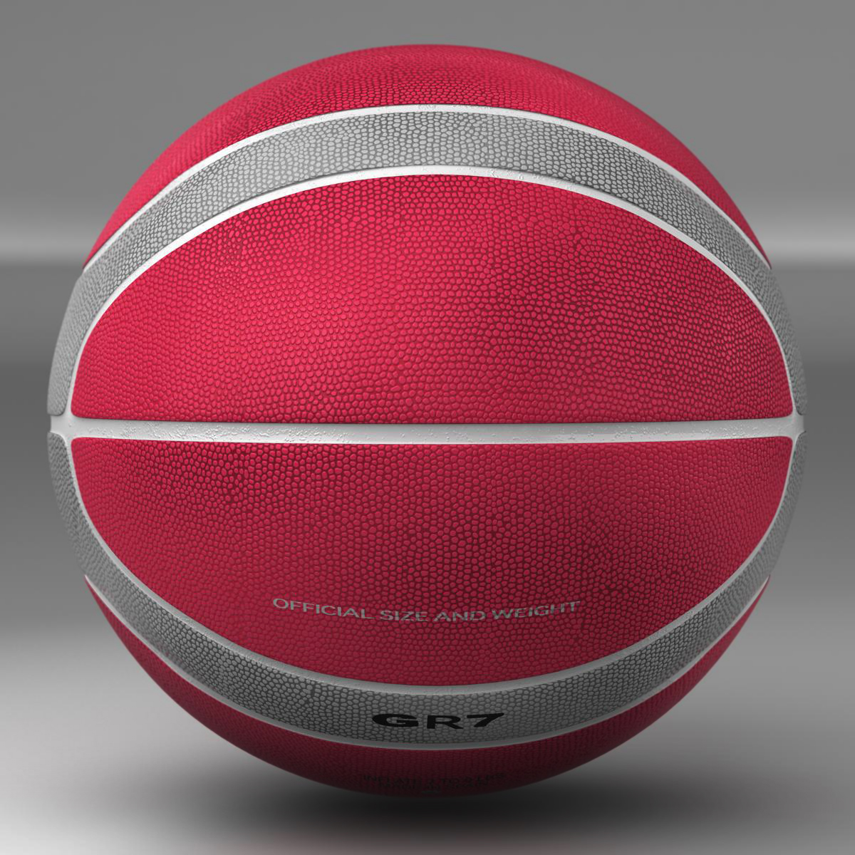 basketball ball eba red 3d model 3ds max fbx c4d ma mb obj 165290