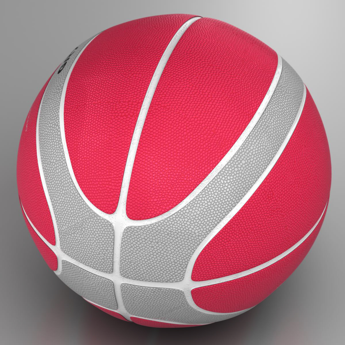 basketball ball eba red 3d model 3ds max fbx c4d ma mb obj 165291