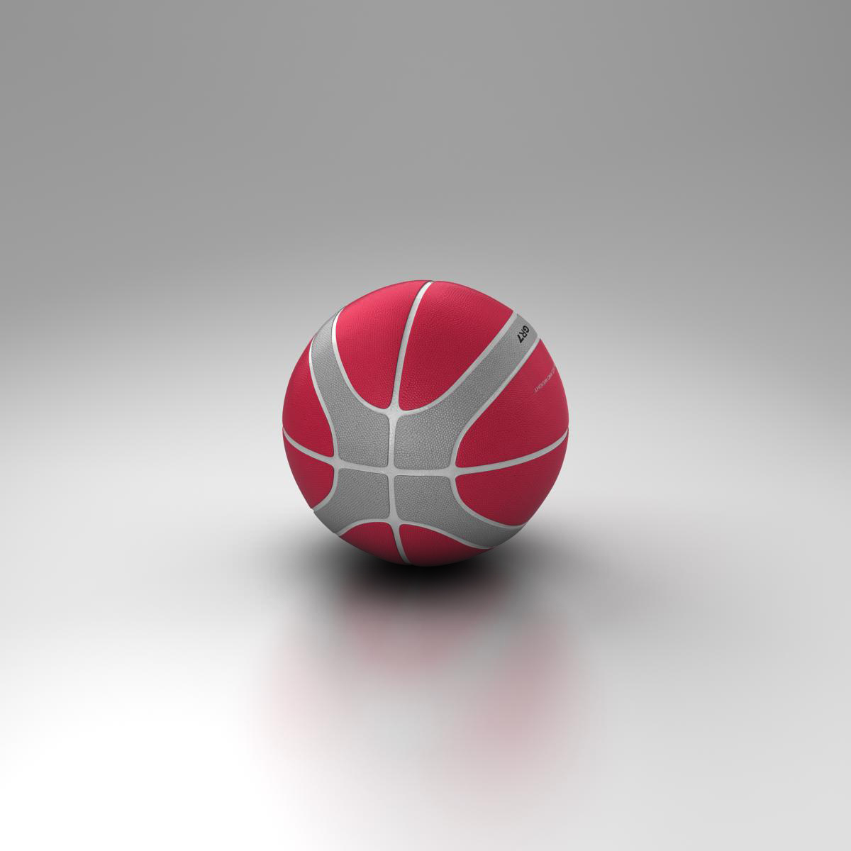 basketball ball eba red 3d model 3ds max fbx c4d ma mb obj 165296