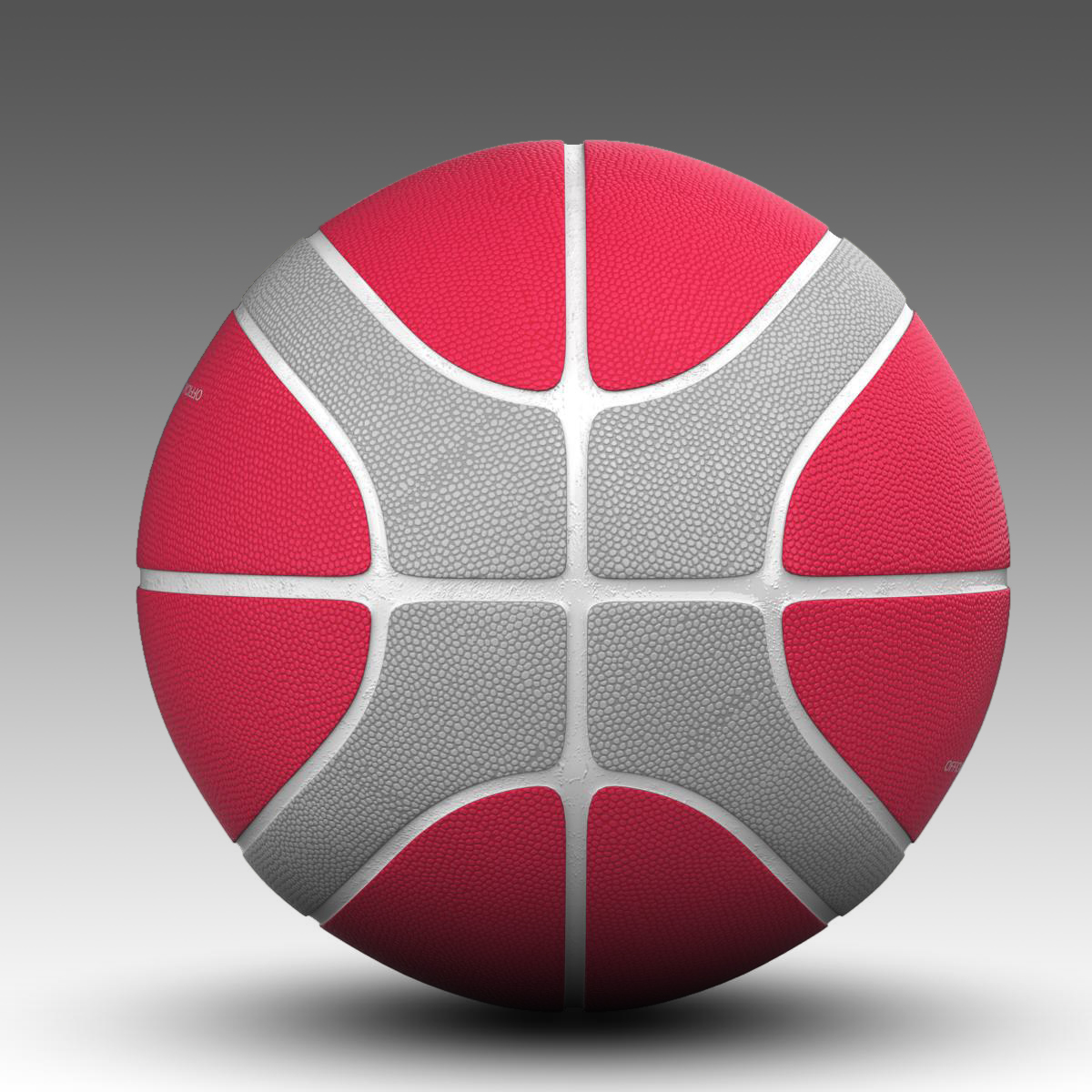 basketball ball eba red 3d model 3ds max fbx c4d ma mb obj 165297