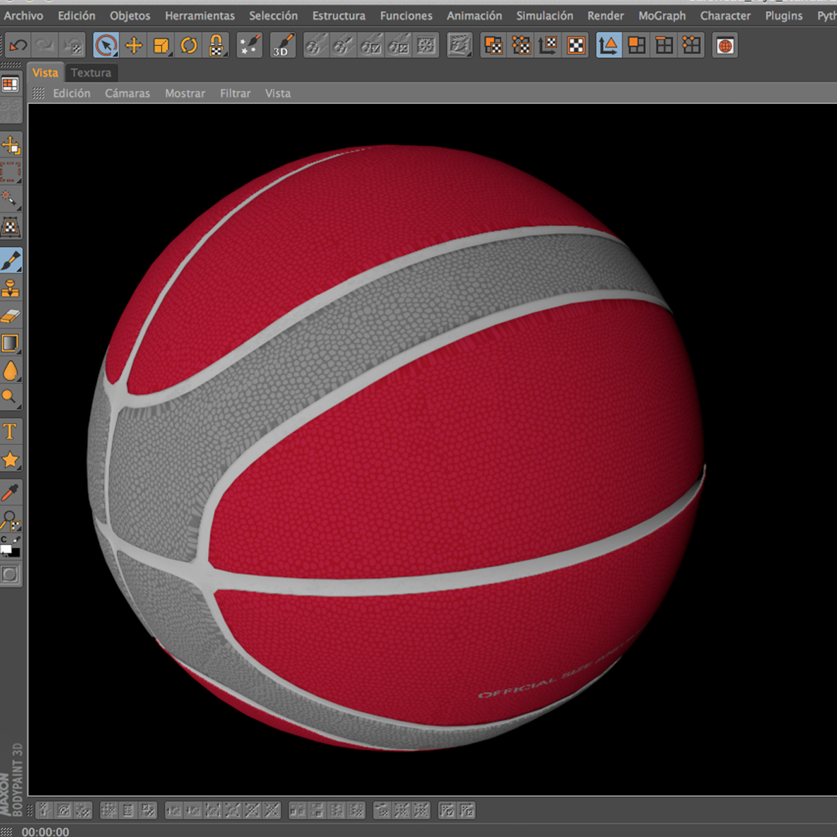basketball ball eba red 3d model 3ds max fbx c4d ma mb obj 165299
