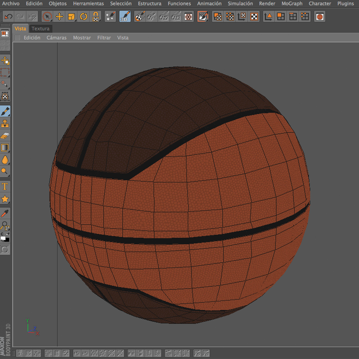 basketball ball euro 3d model 3ds max fbx c4d ma mb obj 164972