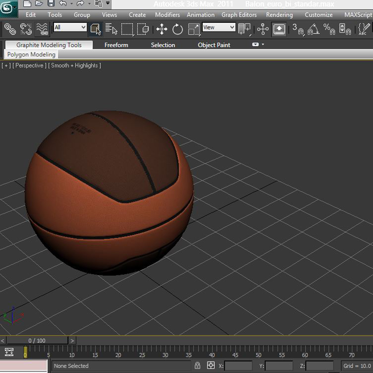 basketball ball euro 3d model 3ds max fbx c4d ma mb obj 164973