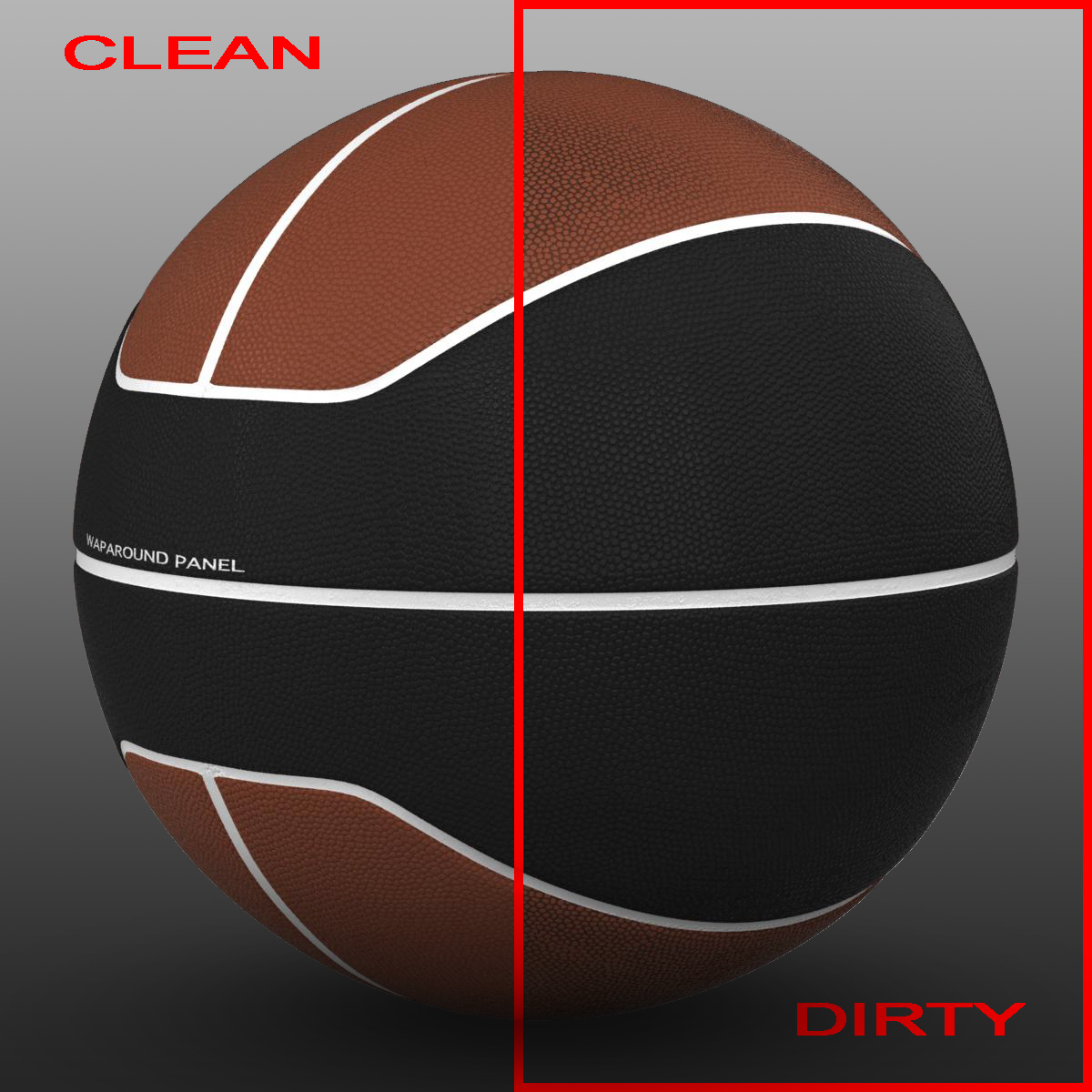 basket ball euro brown-black 3d model 3ds max fbx c4d mb mbar 165096