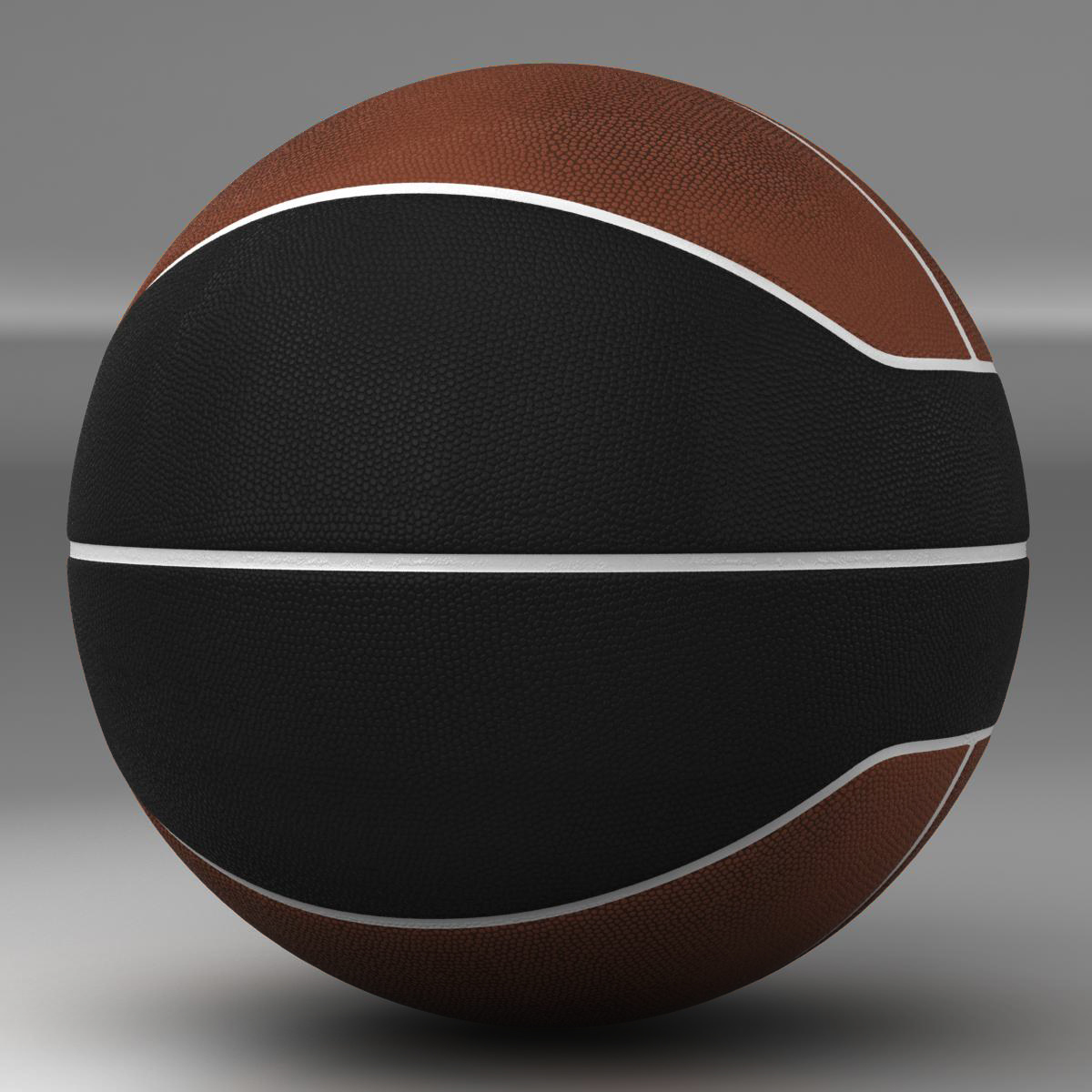 basketball ball euro brown-black 3d model 3ds max fbx c4d ma mb obj 165097