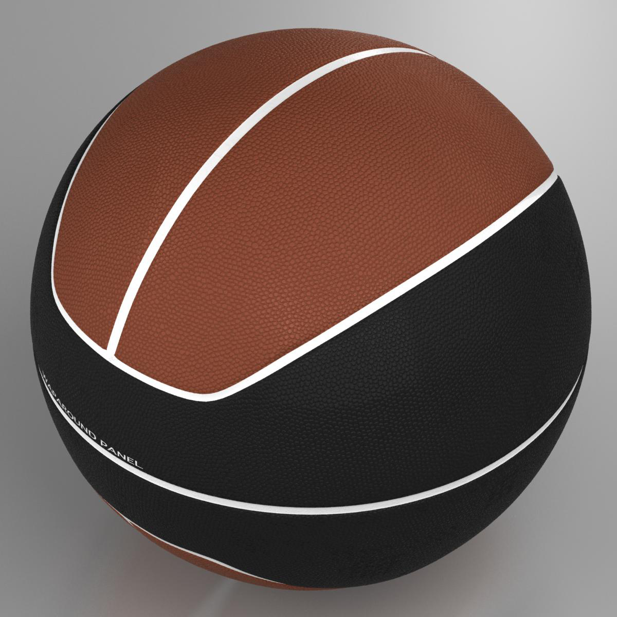 basketball ball euro brown-black 3d model 3ds max fbx c4d ma mb obj 165098