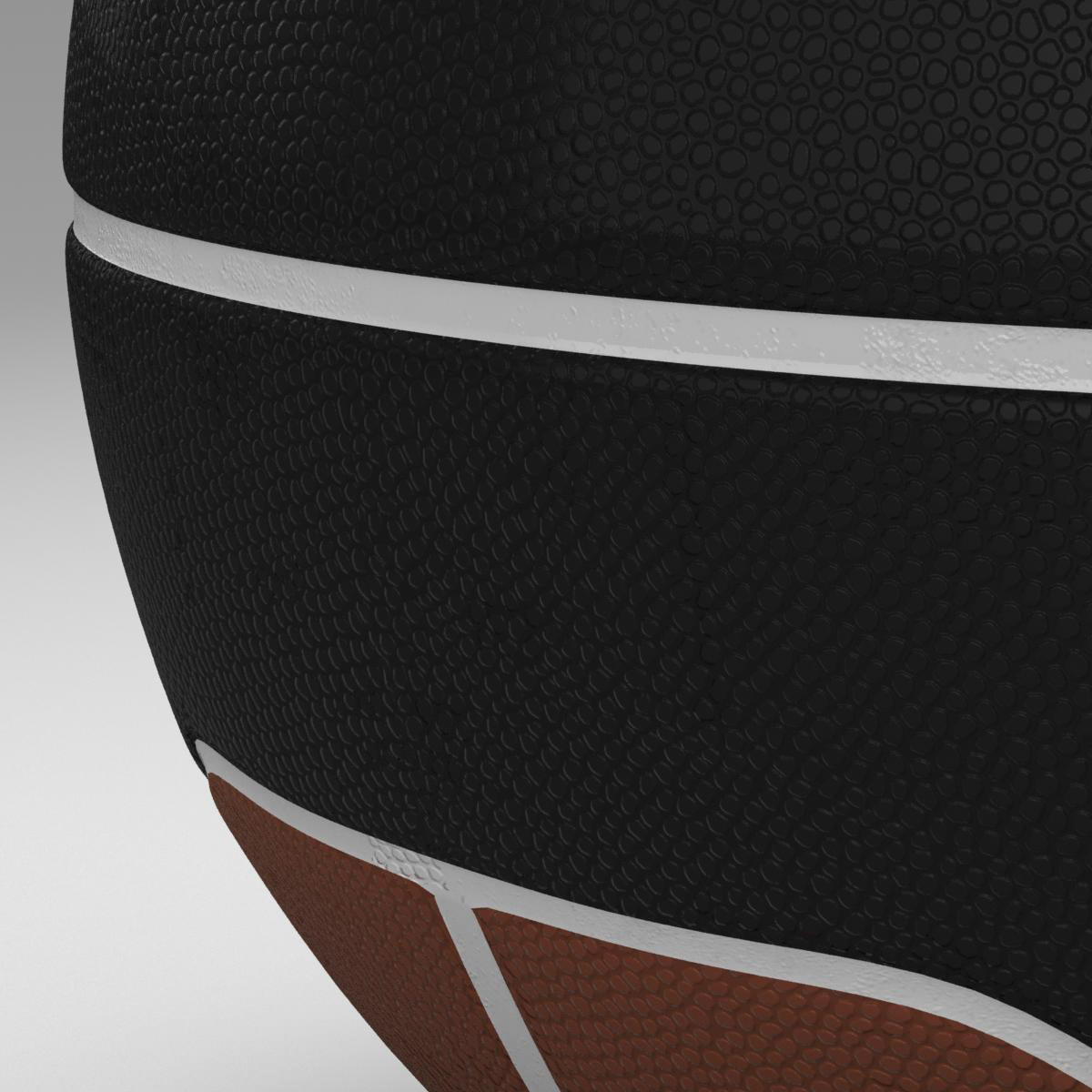 basketball ball euro brown-black 3d model 3ds max fbx c4d ma mb obj 165102