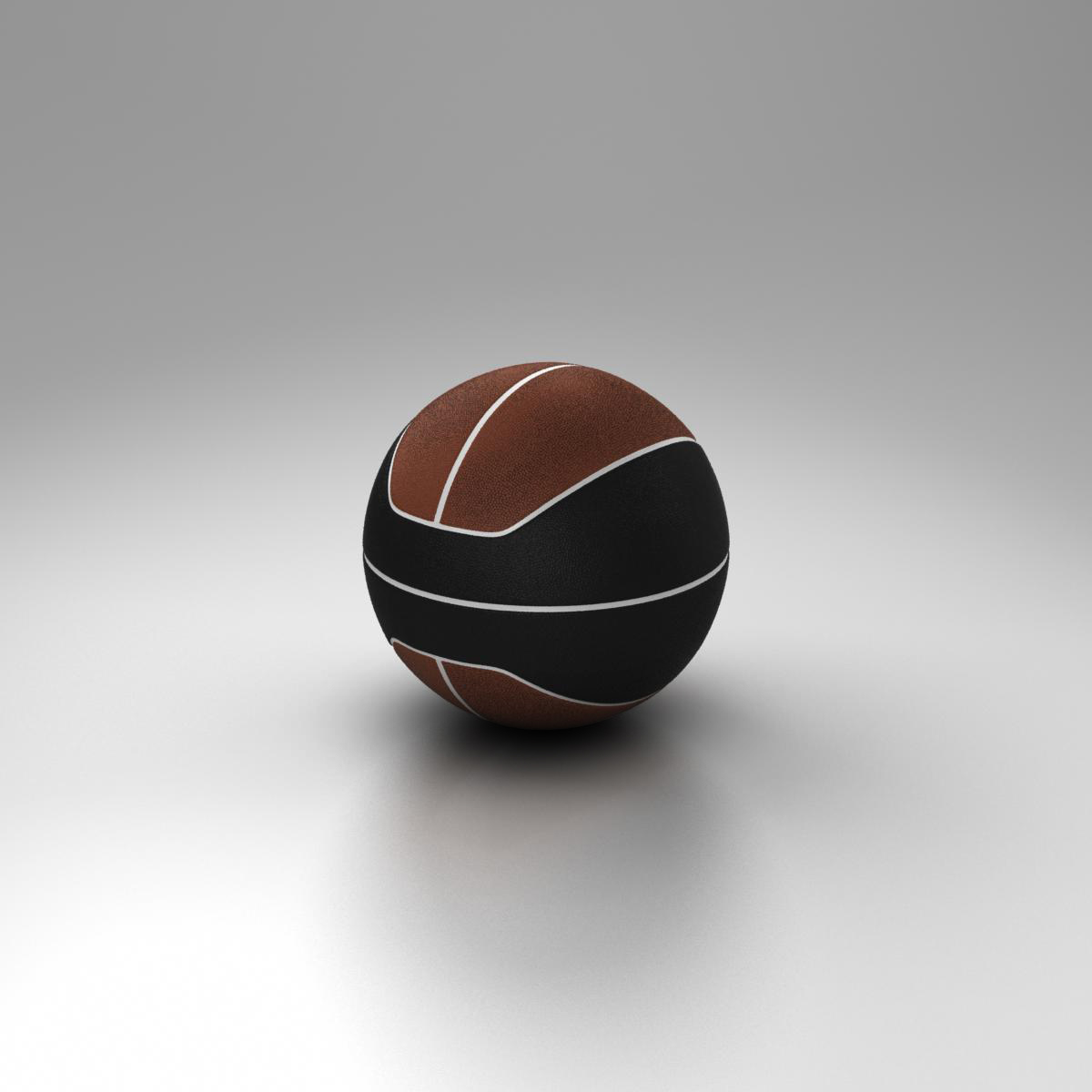 basketball ball euro brown-black 3d model 3ds max fbx c4d ma mb obj 165103