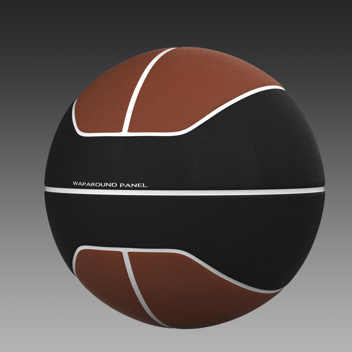 basketball ball euro brown-black 3d model 3ds max fbx c4d ma mb obj 165104