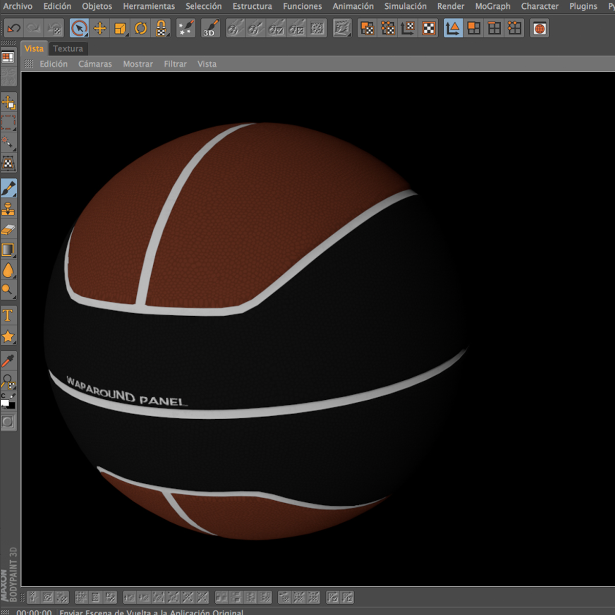 basketball ball euro brown-black 3d model 3ds max fbx c4d ma mb obj 165106