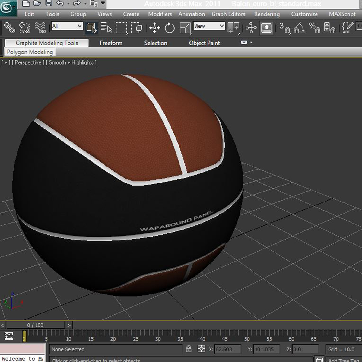 basketball ball euro brown-black 3d model 3ds max fbx c4d ma mb obj 165107