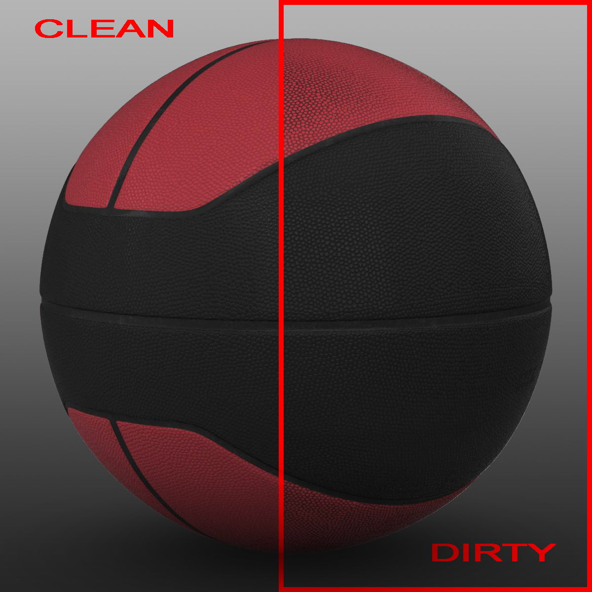 basket ball euro feb-black 3d model 3ds max fbx c4d mb mbar 165084