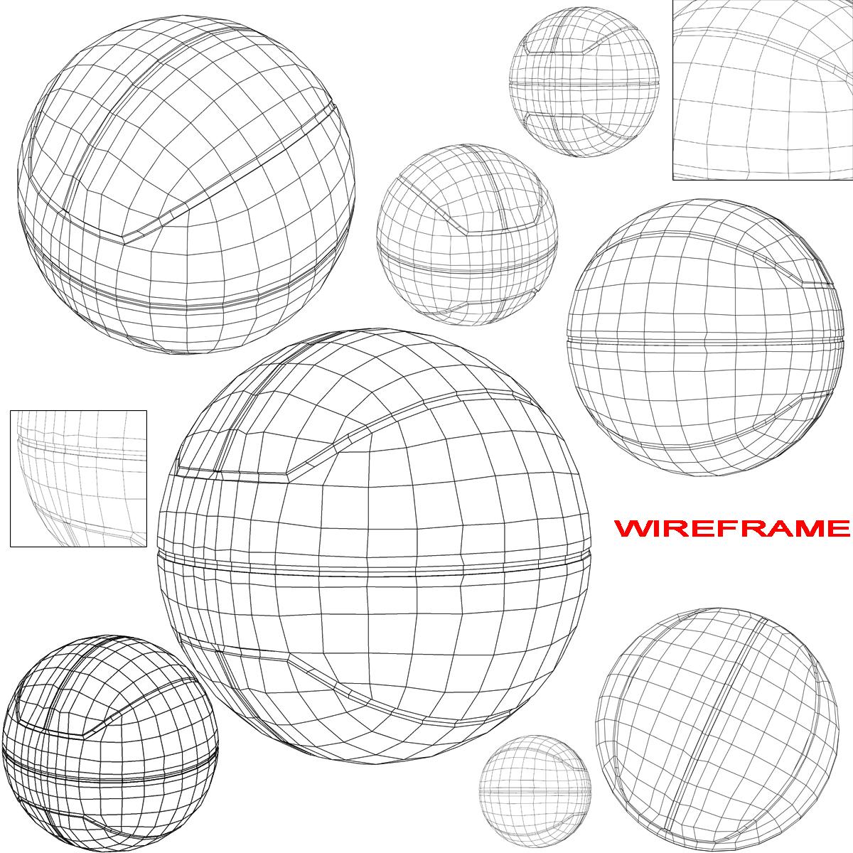 basketball ball euro tricolor 3d model 3ds max fbx c4d ma mb obj 164982
