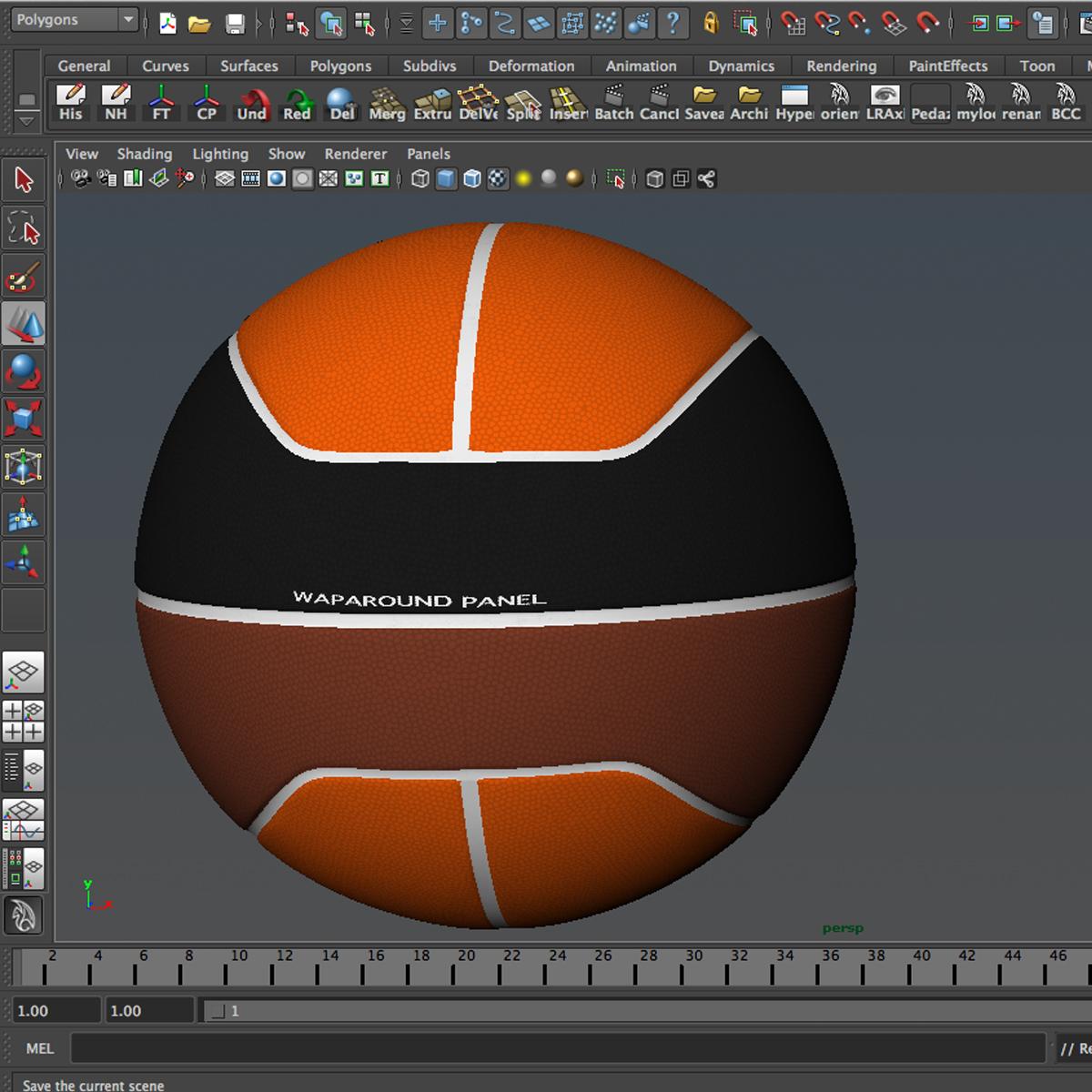 basketball ball euro tricolor 3d model 3ds max fbx c4d ma mb obj 164987