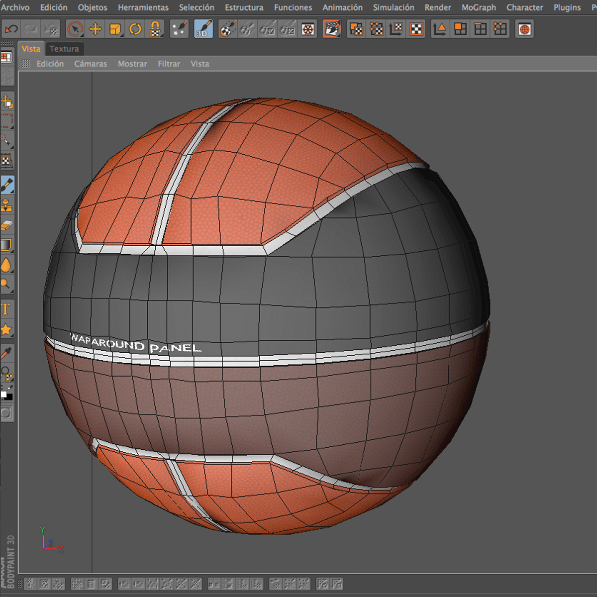 basketball ball euro tricolor 3d model 3ds max fbx c4d ma mb obj 164988