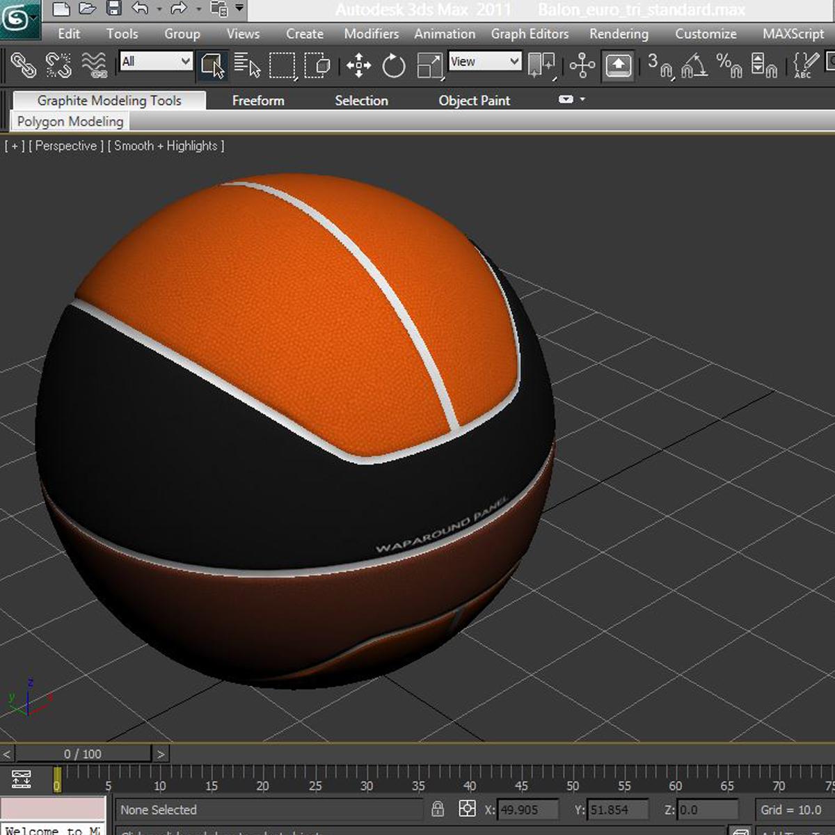 basketball ball euro tricolor 3d model 3ds max fbx c4d ma mb obj 164989