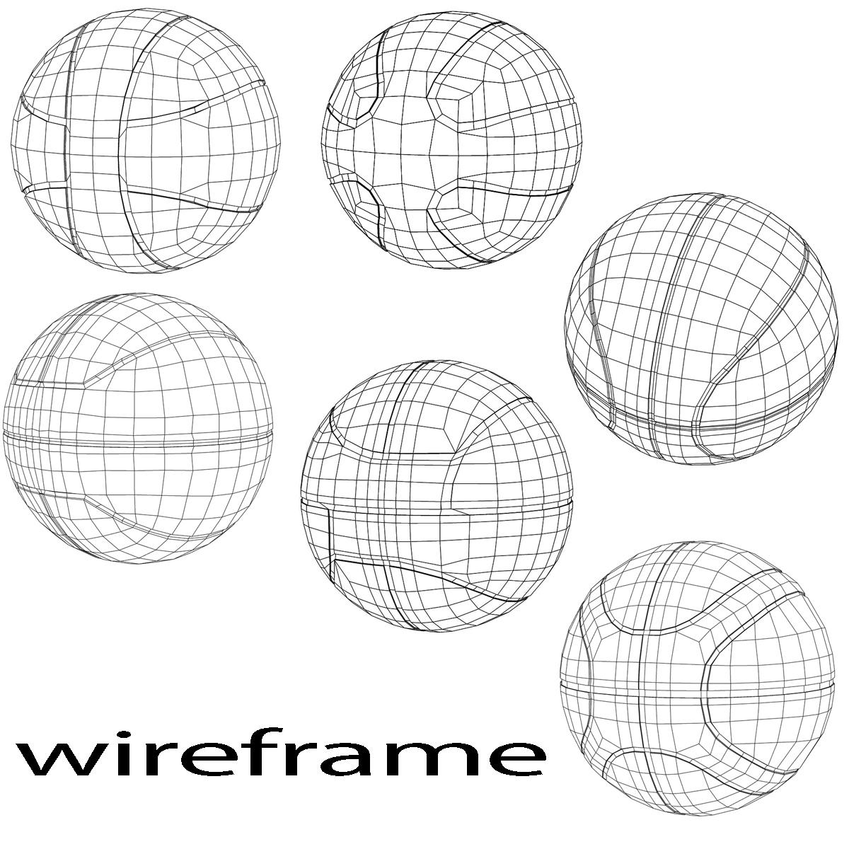 basketball ball set 3d model 3ds max fbx c4d ma mb obj 165930