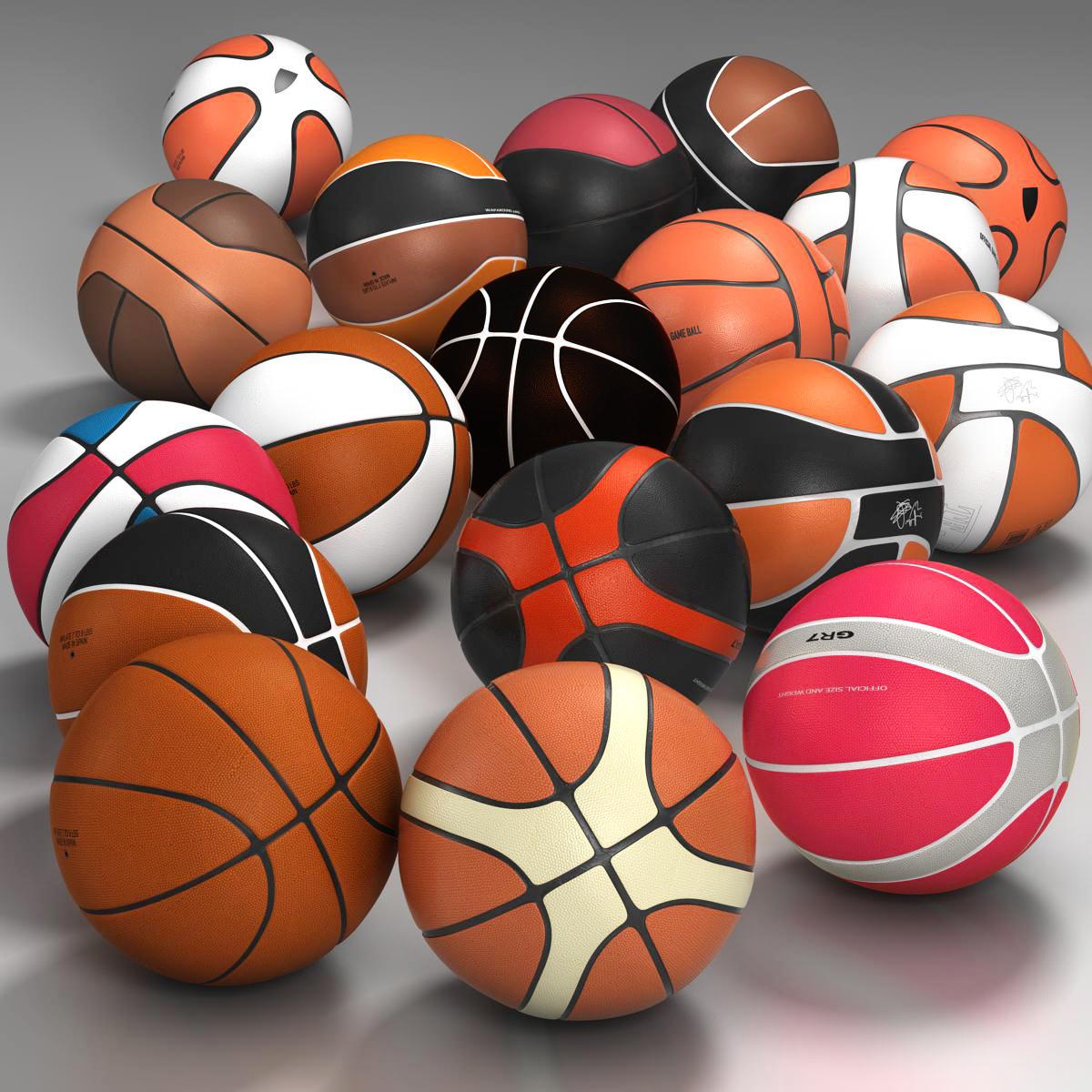 basketbola bumbu komplekts 3d modelis 3ds max fbx c4d ma mb obj 165932
