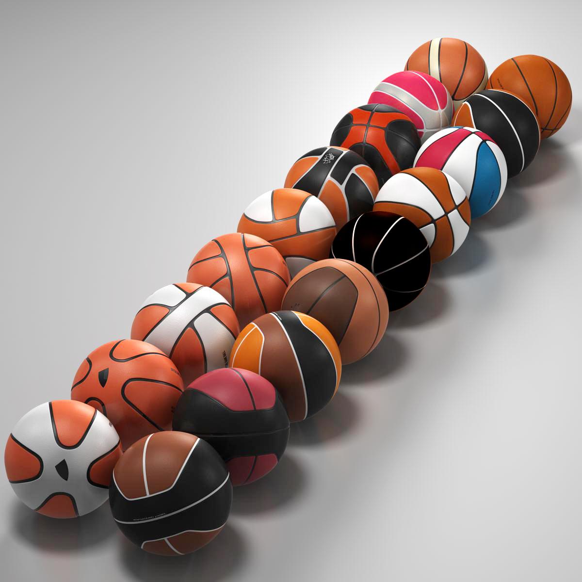basketball ball set 3d model 3ds max fbx c4d ma mb obj 165933