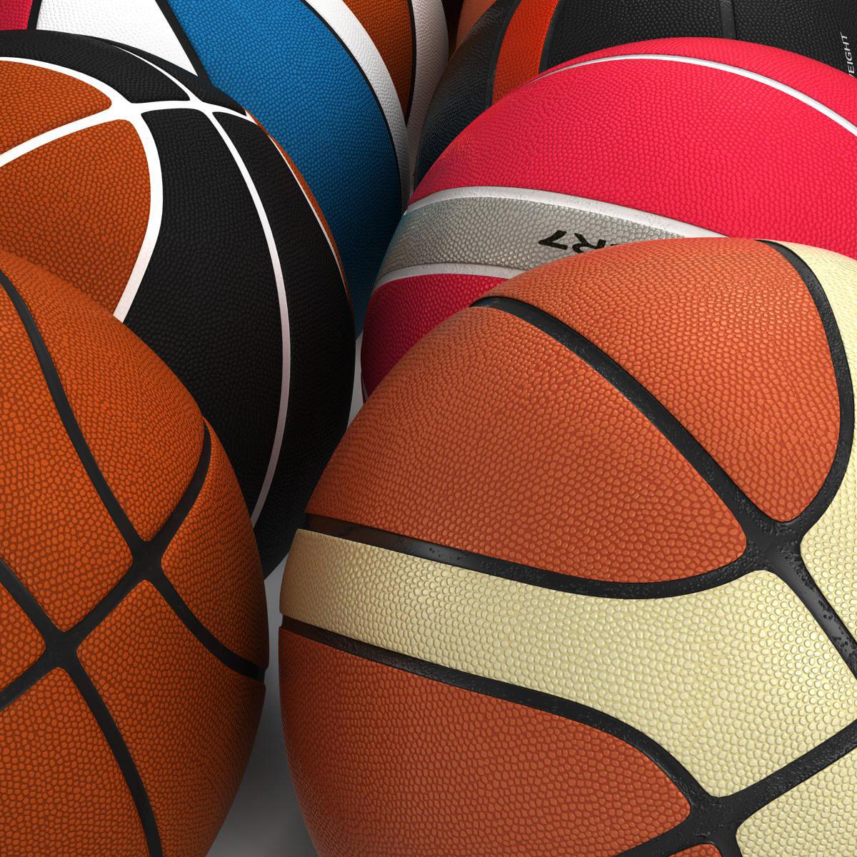 basketball ball set 3d model 3ds max fbx c4d ma mb obj 165934