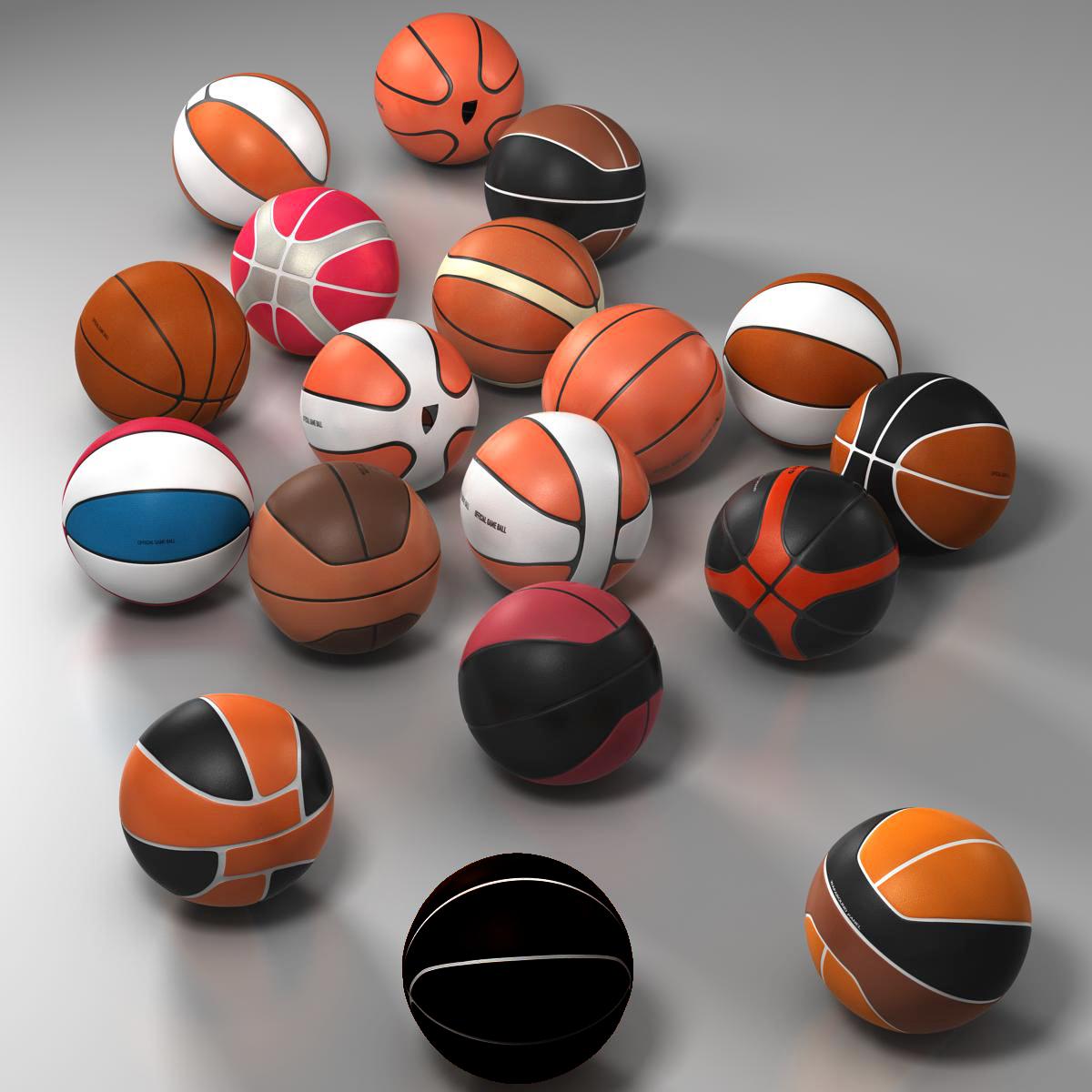 basketbola bumbu komplekts 3d modelis 3ds max fbx c4d ma mb obj 165936