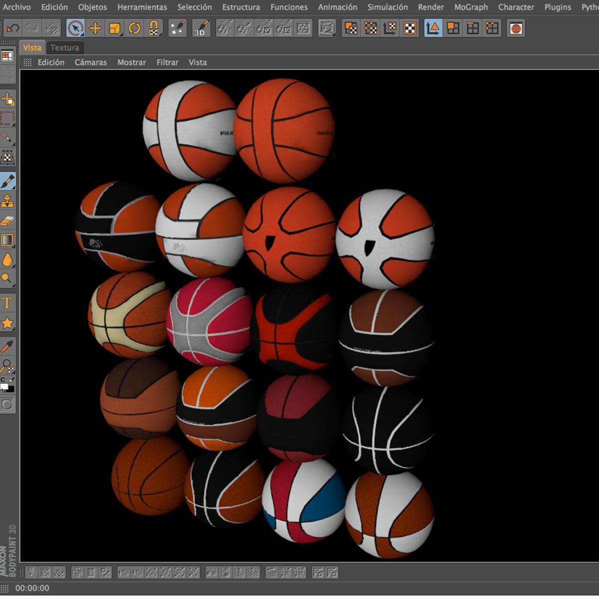 basketbola bumbu komplekts 3d modelis 3ds max fbx c4d ma mb obj 165938