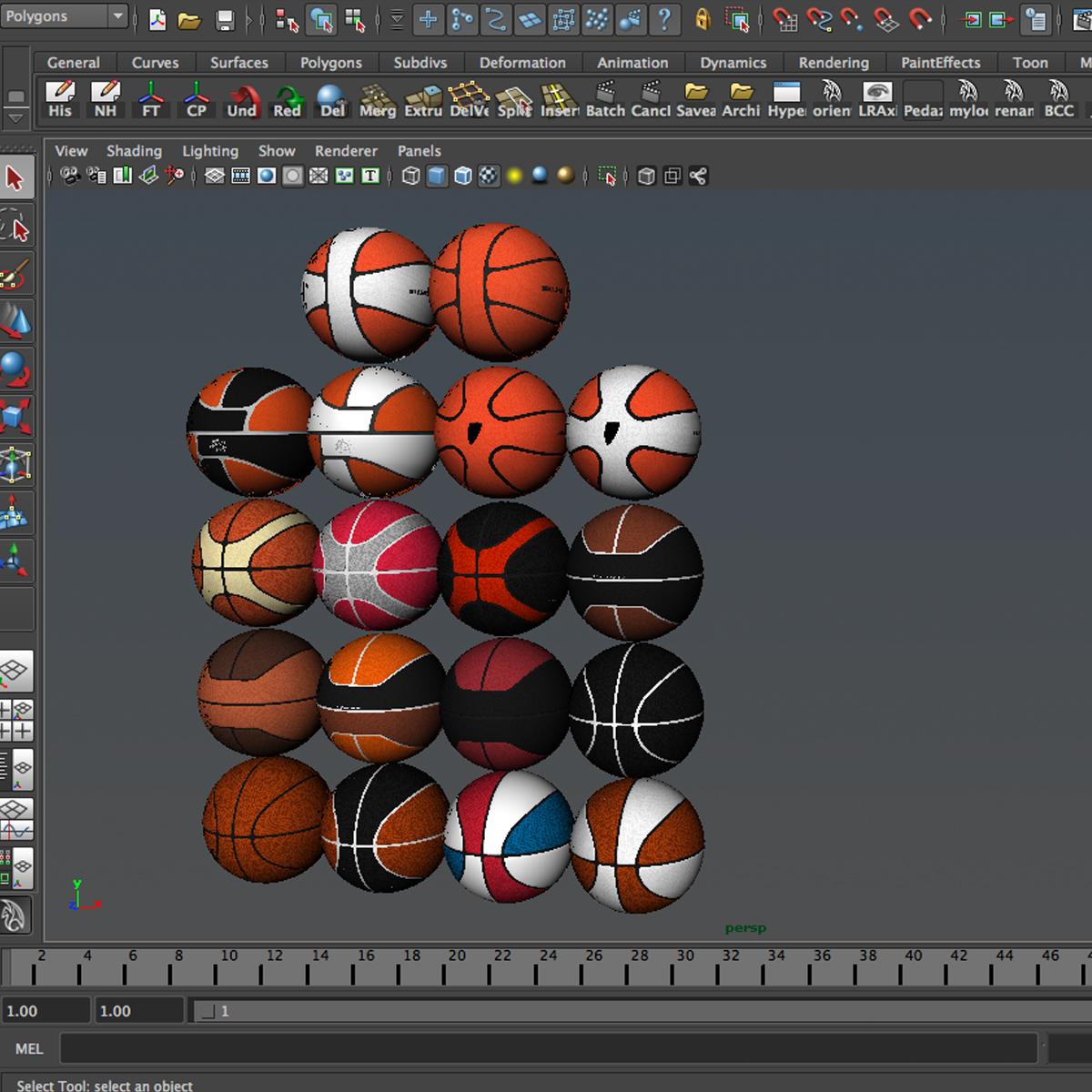basketball ball set 3d model 3ds max fbx c4d ma mb obj 165939