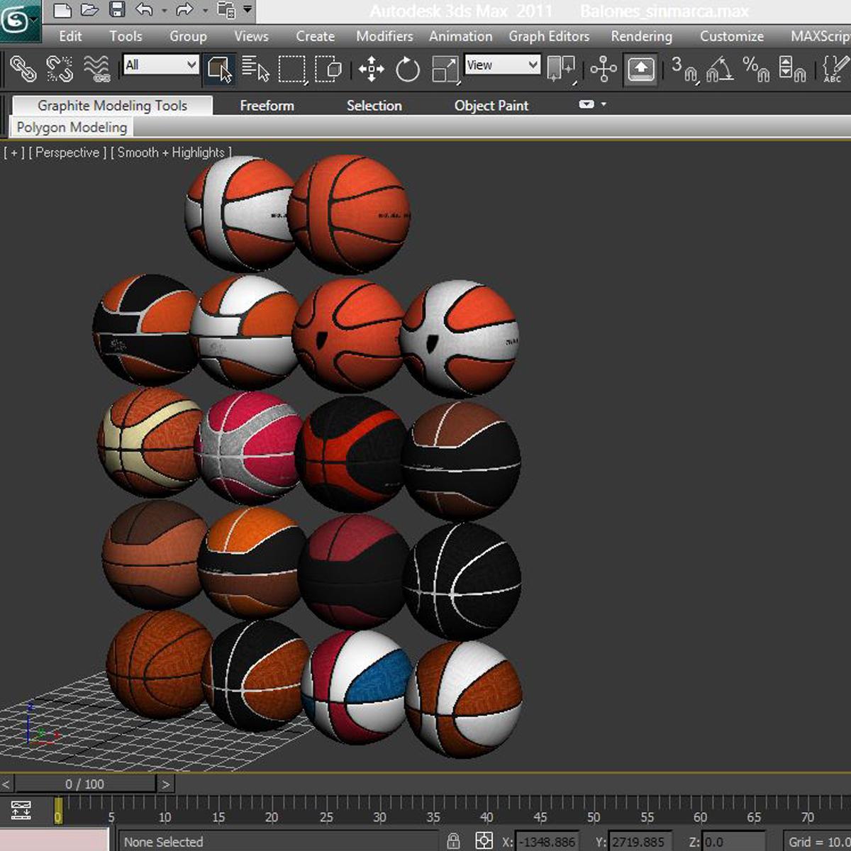 basketball ball set 3d model 3ds max fbx c4d ma mb obj 165940