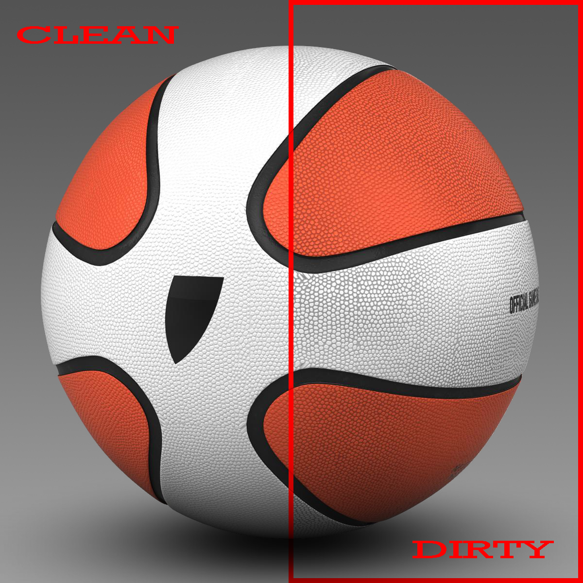basketbalový míč hvězda bicolor 3d model 3ds max fbx c4d ma mb obj 165782