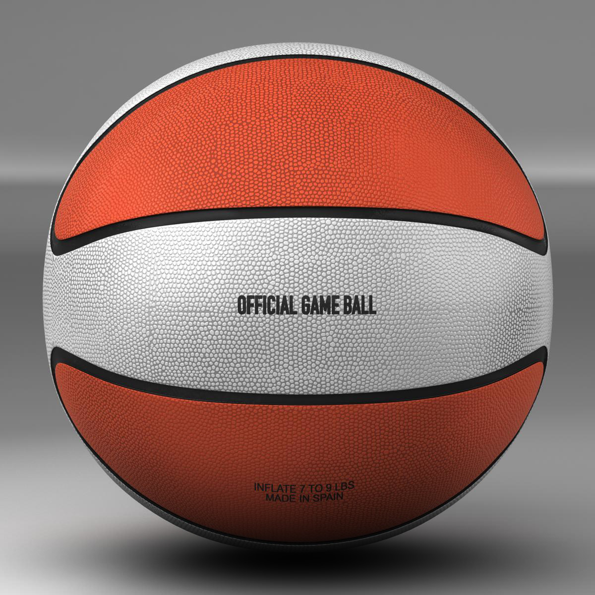 basketball ball star bicolor 3d model 3ds max fbx c4d ma mb obj 165783