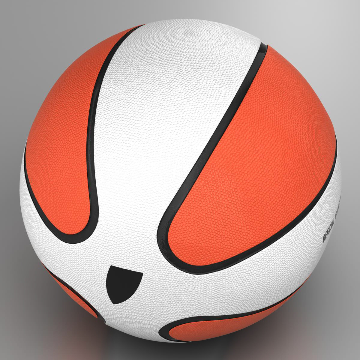basketball ball star bicolor 3d model 3ds max fbx c4d ma mb obj 165784