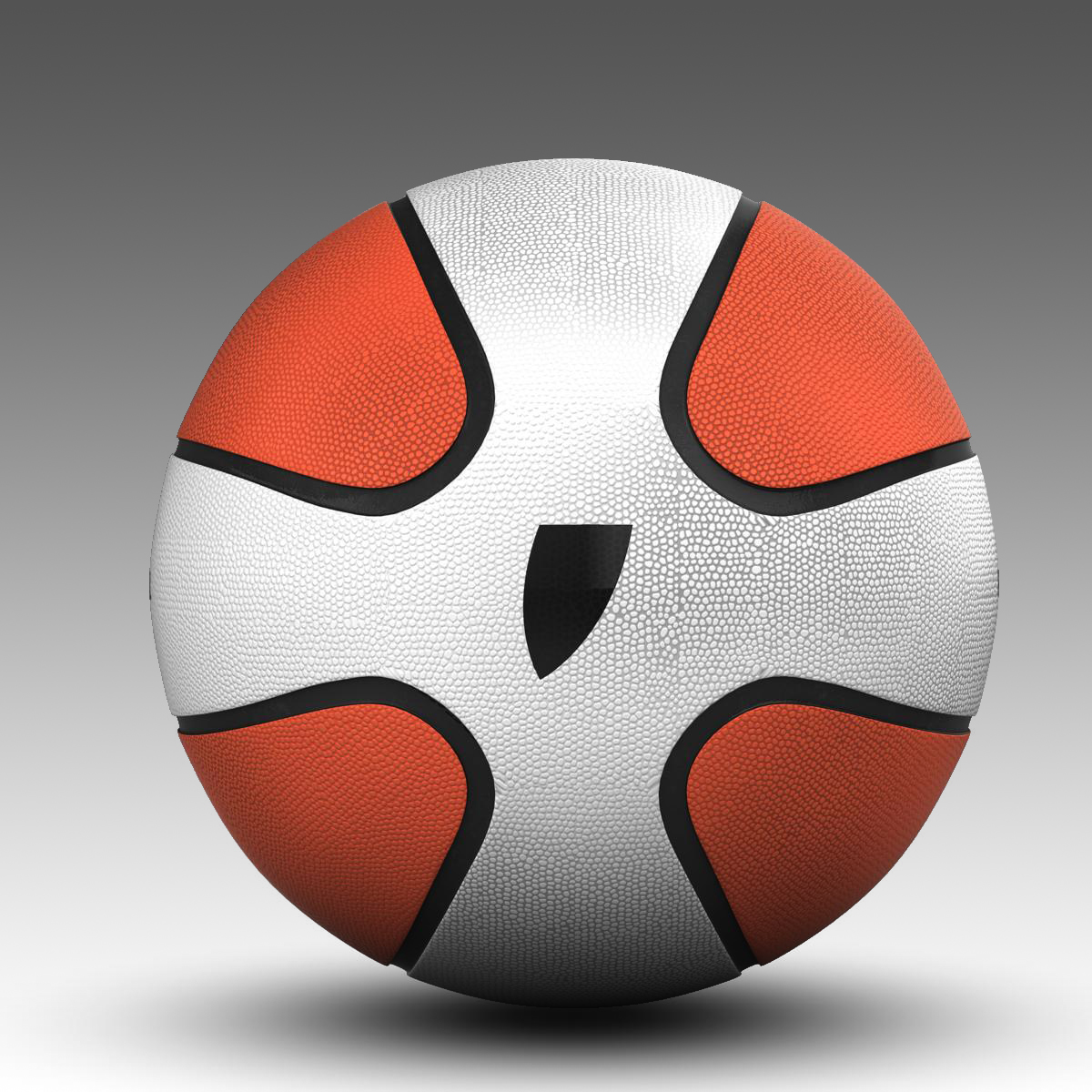 basketball ball star bicolor 3d model 3ds max fbx c4d ma mb obj 165790