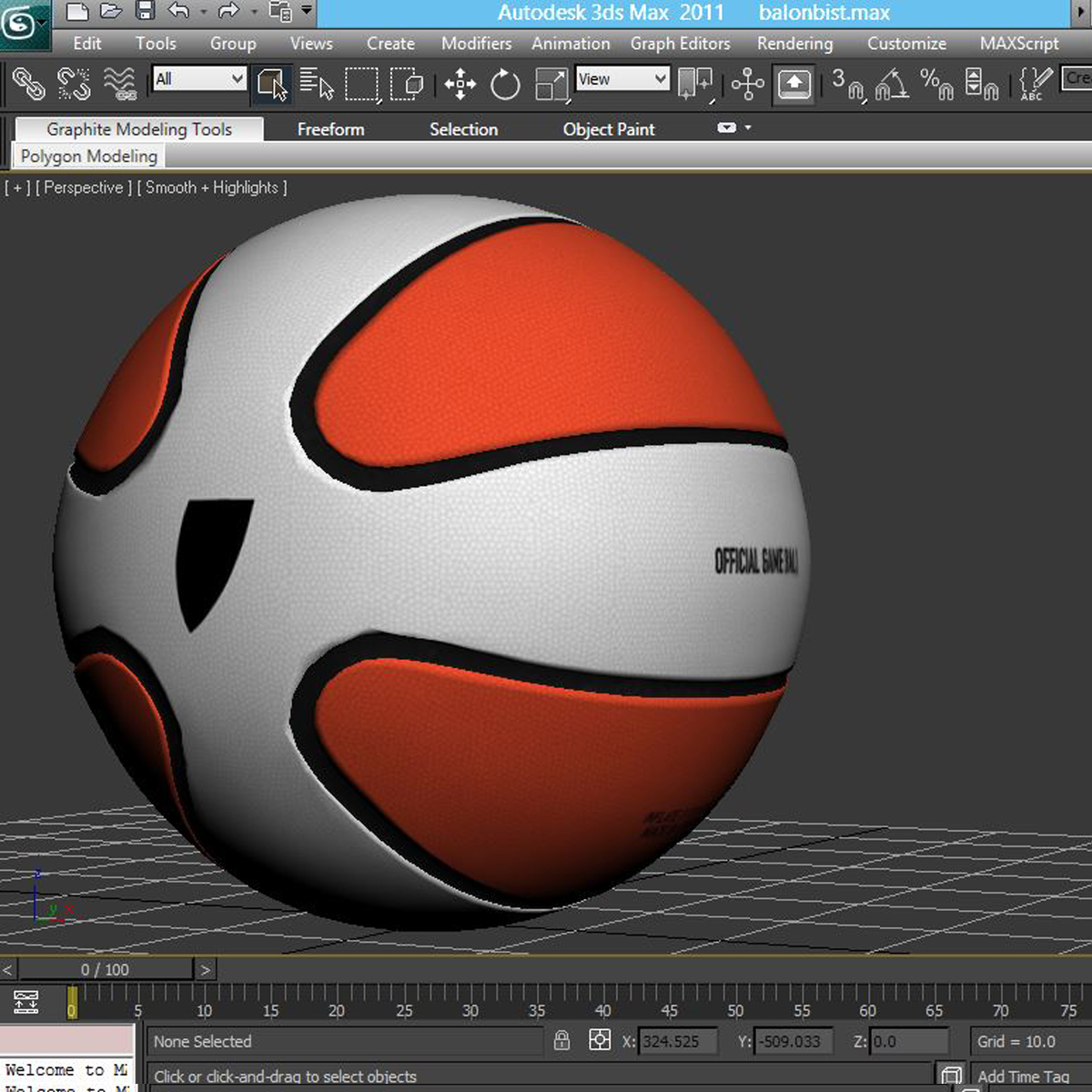 basketball ball star bicolor 3d model 3ds max fbx c4d ma mb obj 165793
