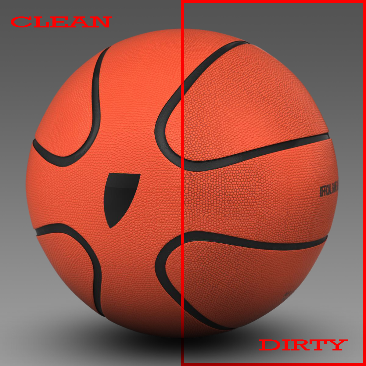 basketball ball star orange 3d model 3ds max fbx c4d ma mb obj 165715