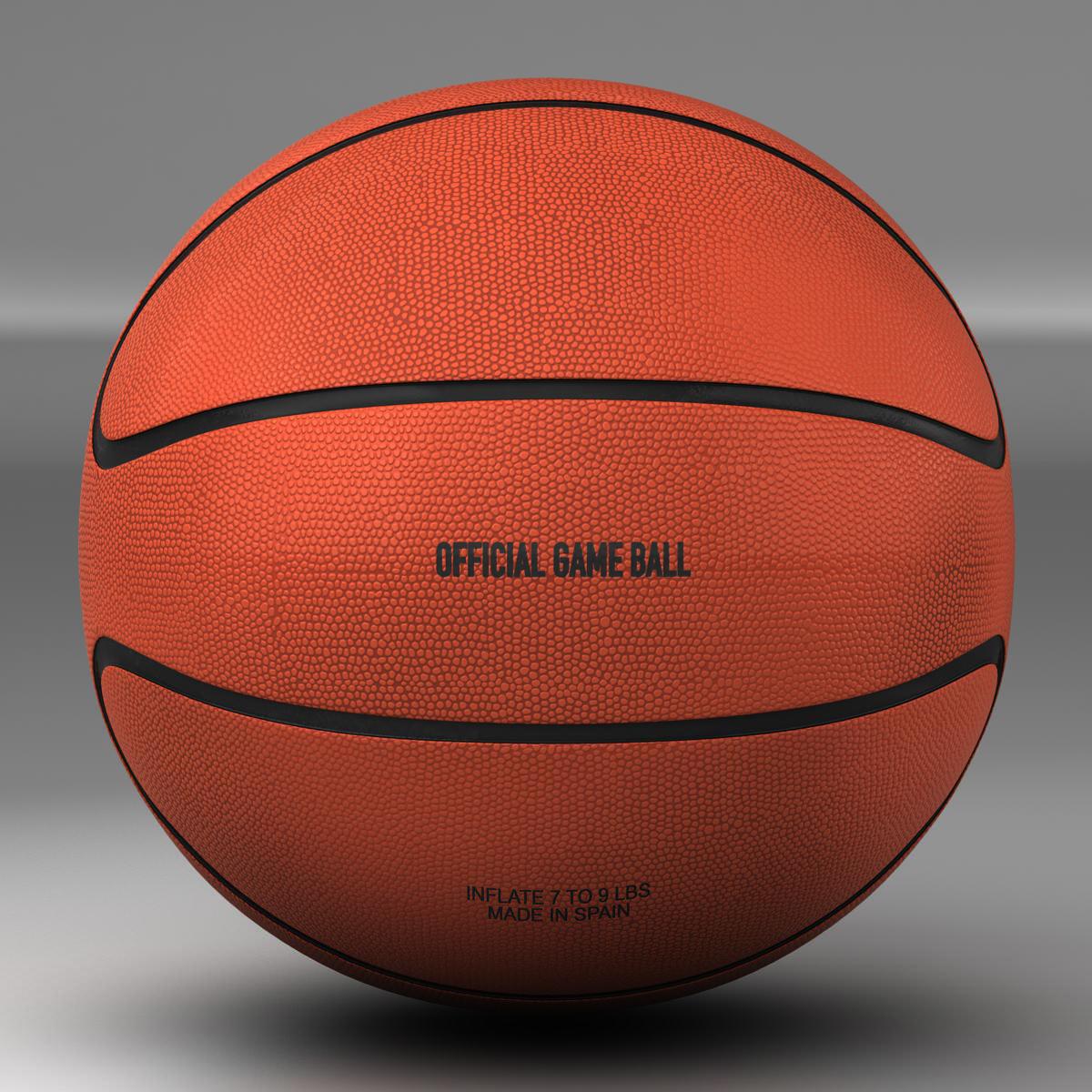 basketball ball star orange 3d model 3ds max fbx c4d ma mb obj 165716