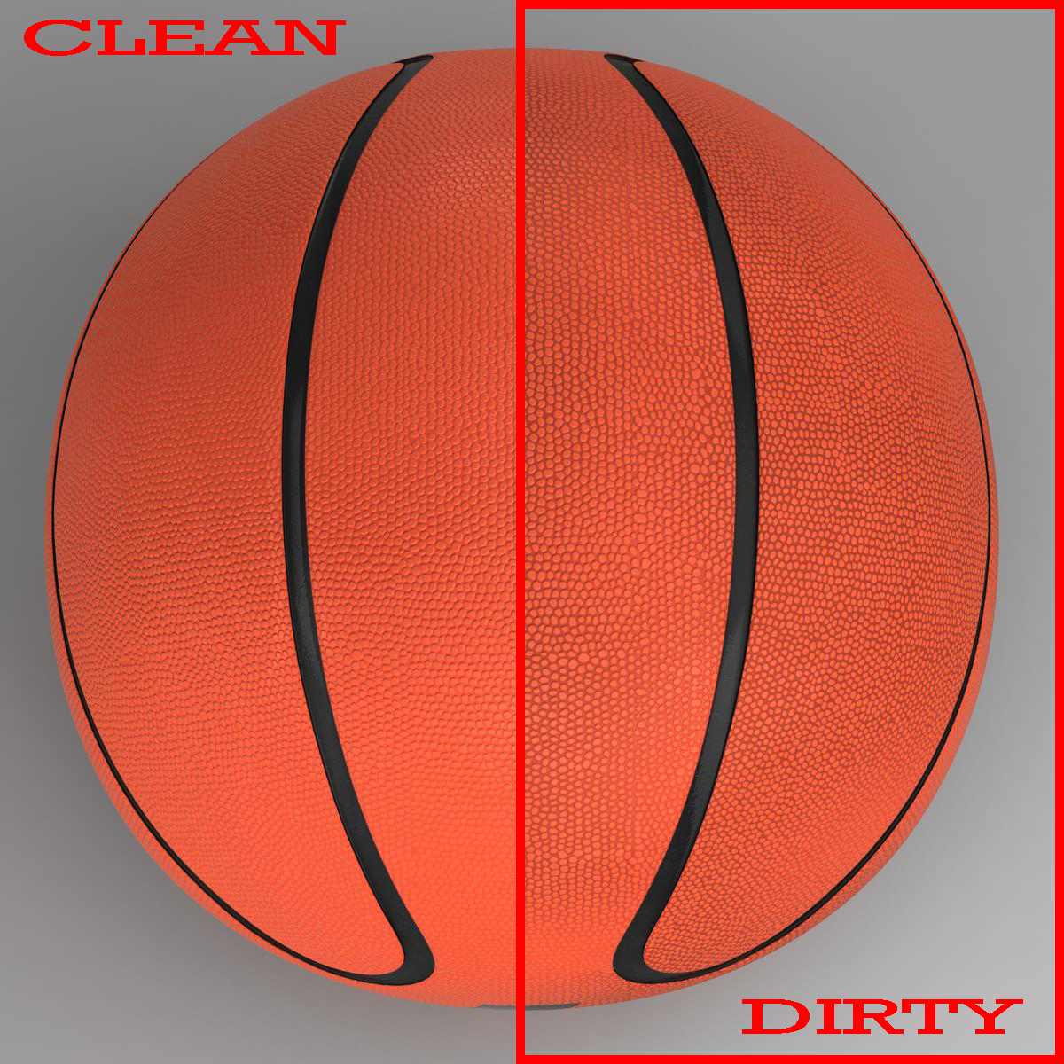 basketball ball star orange 3d model 3ds max fbx c4d ma mb obj 165718
