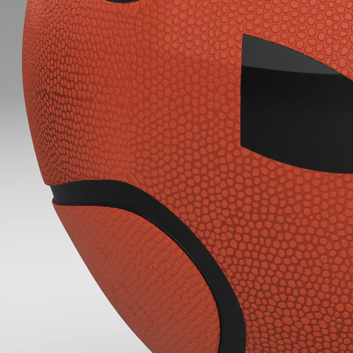 basketball ball star orange 3d model 3ds max fbx c4d ma mb obj 165721