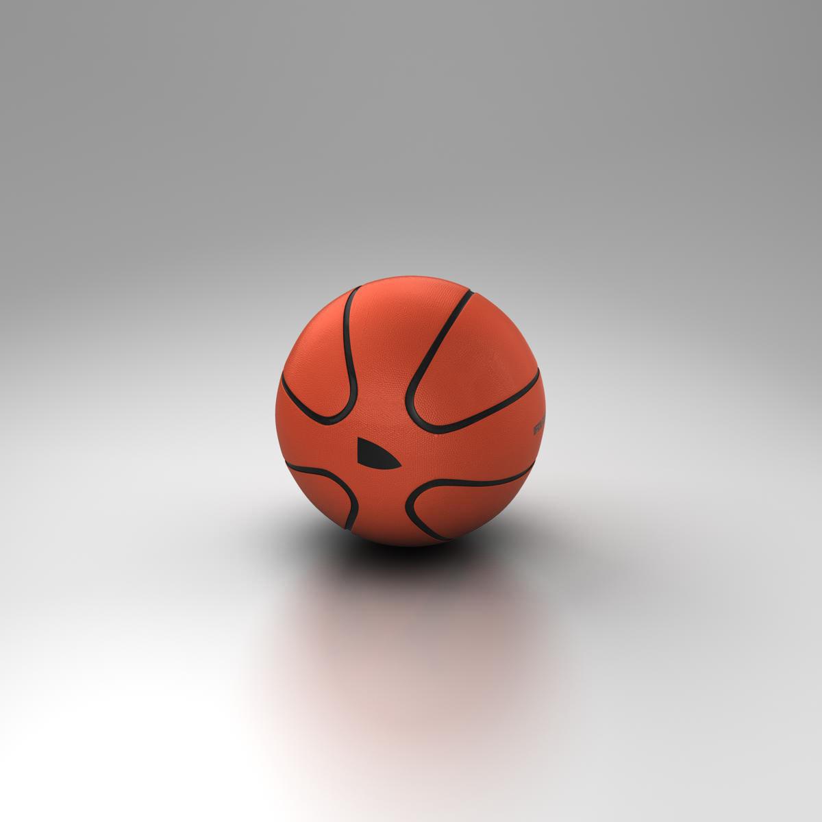 basketball ball star orange 3d model 3ds max fbx c4d ma mb obj 165722